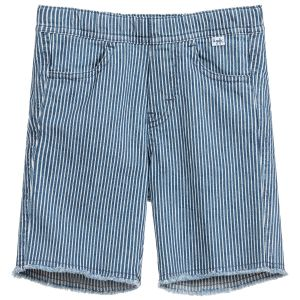 Il Gufo Boys Blue and White Striped Cotton Shorts