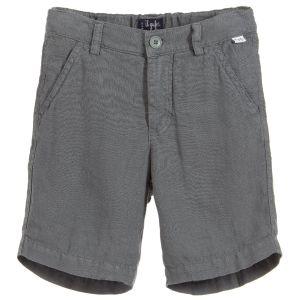 Il Gufo Boys Grey Linen Shorts