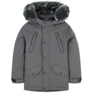 BOSS Boys Grey Padded Parka Coat