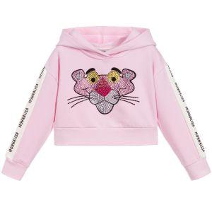 Monnalisa Girls Cotton Pink Panther Cropped Sweatshirt