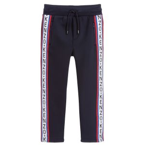 Kenzo Kids Boys Blue Taped Logo  Joggers