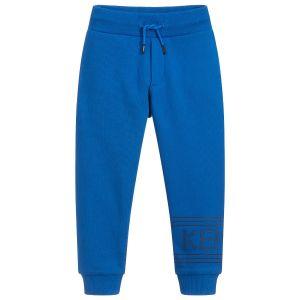 Kenzo Kids Boys Electric Blue Cotton Logo Joggers