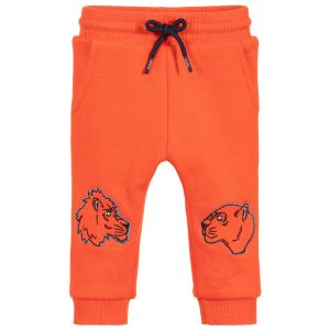 Kenzo Kids Baby Boys Orange Cotton Joggers
