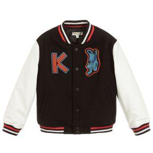 Kenzo Kids Boys Black Bomber Jacket