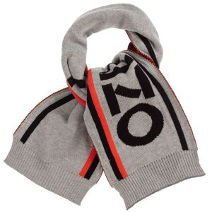 Kenzo Kids Boys Grey Knitted Cotton Scarf