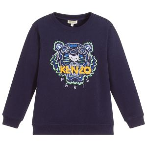 Kenzo Kids Navy Blue/ Yellow Iconic Tiger Sweatshirt