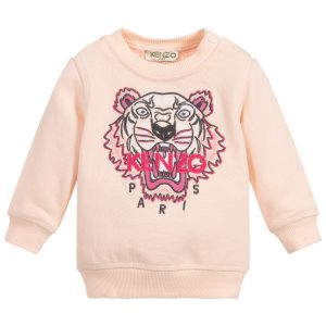 Kenzo Kids Baby Girls Pale Pink Iconic Tiger Sweatshirt