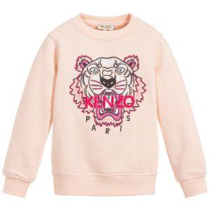 Kenzo Kids Older Girls Pink Tiger Sweatshirt