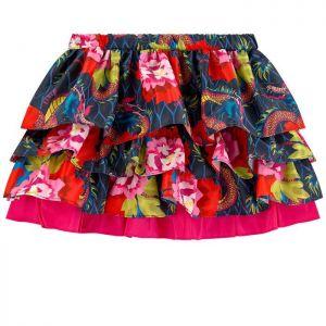 Kenzo Kids Japanese Flower Frilled Skirt