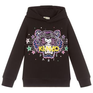 Kenzo Kids Girls Black Seasonal Tiger Sweatshirt
