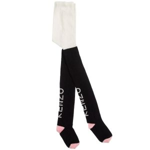 Kenzo Kids Girls Black Cotton Tights