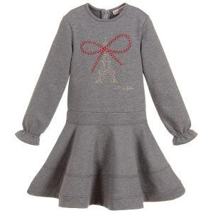 Lili Gaufrette Grey Milano Polycotton Dress