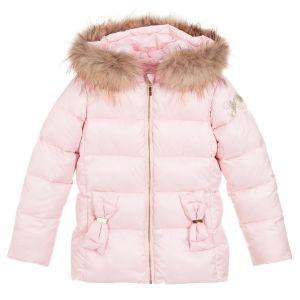 Lili Gaufrette Girls Pink Down Padded Jacket
