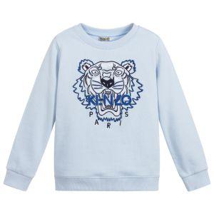 Kenzo Kids Light Blue Iconic Tiger Sweatshirt