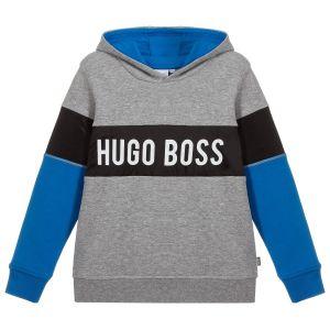 BOSS Grey Marl Cotton Logo Sweatshirt
