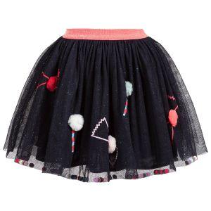 Billieblush Girls Navy Blue Tulle Candy Skirt
