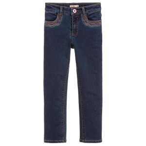 Billieblush Girls Blue Slim Fit Embroidered Jeans