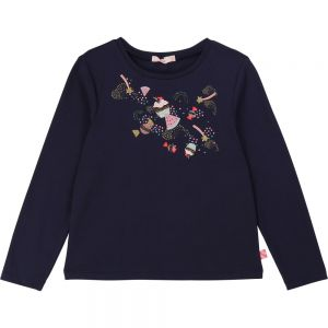 Billieblush Girls Navy Cotton Candy and Cake Top