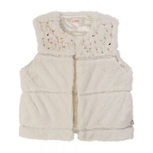BILLIEBLUSH Girls Ivory Fur Gilet