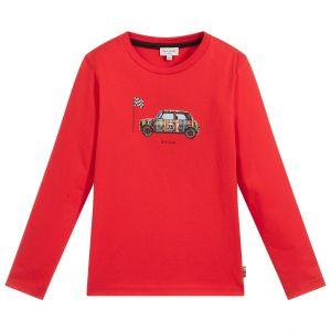 Paul Smith Junior Boys Red Cotton Jersey Mini Top