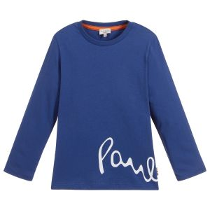 Paul Smith Junior Boys Blue Cotton Jersey Vishal Top
