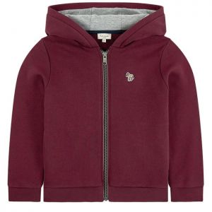 Paul Smith Junior Boys Burgundy Jersey Vaclav Zip-Up Top