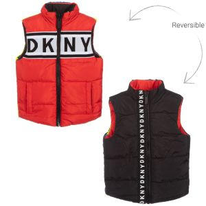 DKNY Red & Black Reversible Gilet