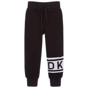 DKNY Black Cotton Joggers