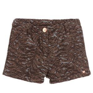 3Pommes Black & Gold Jacquard Shorts