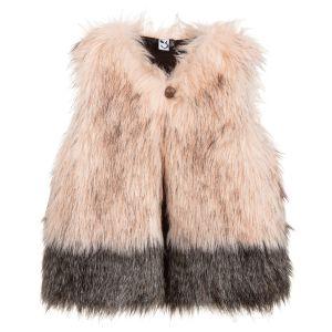 3Pommes Girls Pink Faux Fur Gilet