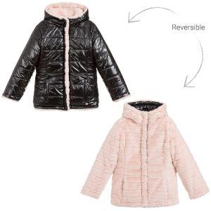 3Pommes Faux Fur Reversible Pink Jacket