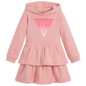 Guess Girls Pink Cotton Jersey Skater Dress