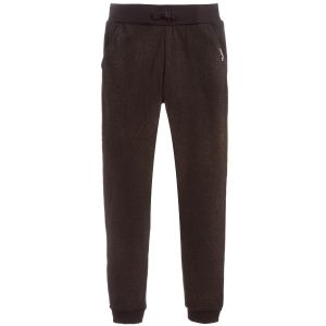 Guess Girls Black Gold Shimmer Cotton Joggers
