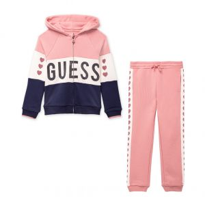 Guess Pink, Ivory and Navy Tracksuit