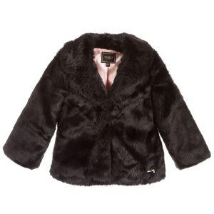 Guess Black Faux Fur Coat