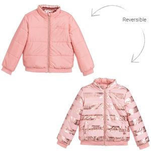 Guess Pink Reversible Puffer Jacket