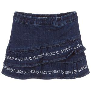 Guess Younger Girls Blue Denim Ruffle Skirt