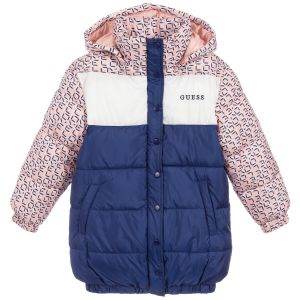 Guess Girls Pink & Blue Padded Coat