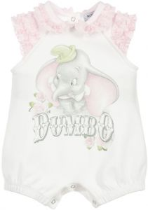Monnalisa White Cotton Dumbo Shortie