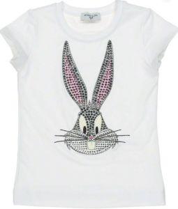 Monnalisa White Bugs Bunny T-Shirt
