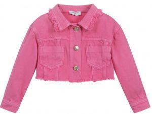 Monnalisa Pink Denim Bugs Bunny Jacket