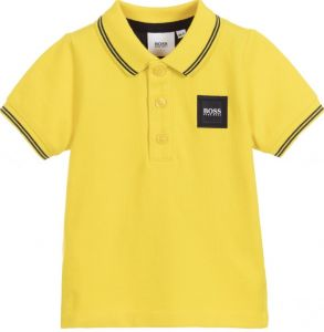 BOSS Kidswear Baby Boys Yellow Polo Shirt