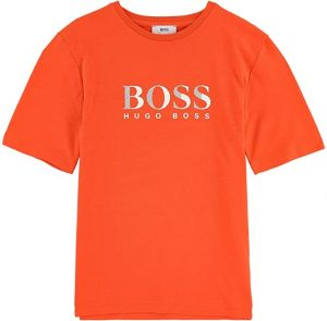BOSS Kidswear Orange Cotton Logo T-Shirt