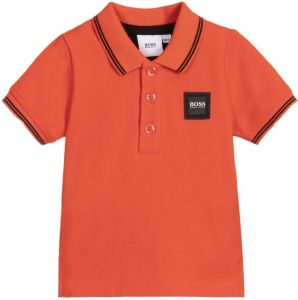 BOSS Kidswear Baby Boys Orange Polo Shirt