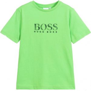BOSS Kidswear Green Cotton Logo T-Shirt