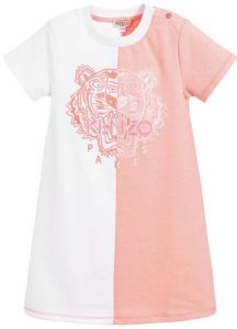Kenzo Kids White & Pink Jersey Dress