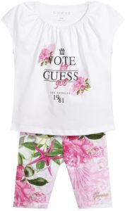 Guess Pink & White Leggings Set