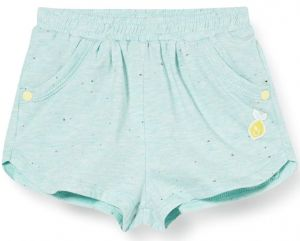 3Pommes Green Cotton Lemon Applique Shorts