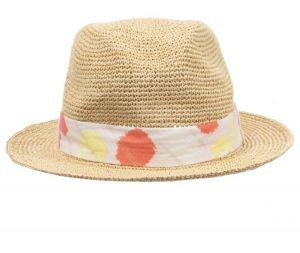 Lili Gaufrette Girls Beige Straw Hat