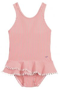 Lili Gaufrette Red & White Stripe Swimsuit